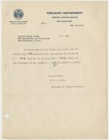 Letter to Richard H. Leigh  from the IRS, enclosing a check for his overpaid difference