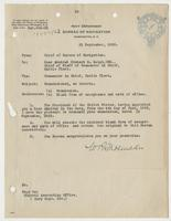 Order from the Navy Department enclosing Richard H. Leigh's commission and congratulating his promotion