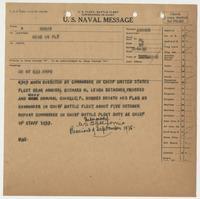 U.S. Naval Message from BuNav to Richard H. Leigh