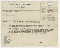 U.S. Naval Message from U.S. Fleet to BuNav