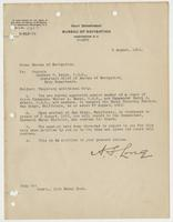 Order from the Navy Department assigning Richard H. Leigh temporary additional duty to inspect the Naval Training Station