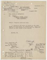 Order from the Navy Department assigning Richard H. Leigh temporary additional duty in Norfolk, V.A.