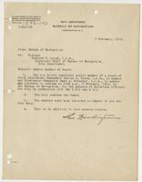 Order from the Navy Department appointing Richard H. Leigh Senior Member of a board selecting officers for duty