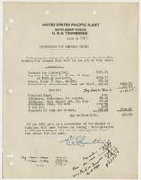 Memorandum for Captain Leigh