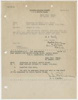 Order from R. E. Coontz detaching Richard H. Leigh from duty assigned of the U.S.S. Seattle