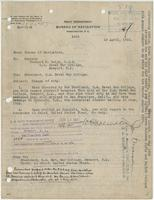Order from the Navy Department detaching Richard H. Leigh from duty at the U.S. Naval War College, reassigning him to Honolulu