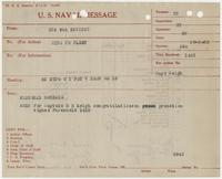 U.S. Naval Message from Farenholt 1418 to Richard H. Leigh