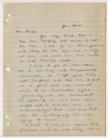 Letter to Leigh from C. F. Hughes