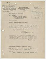 Order from the Navy Department assigning Richard H. Leigh temporary additional duty in Boston, Mass.