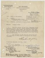 Order from the Navy Department assigning Richard H. Leigh change of duty