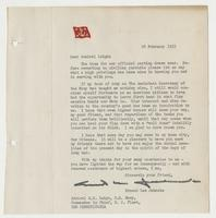 Letter to R. H. Leigh from Ernest Lee Jahncke