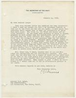 Letter to Admiral Leigh from C. F. Adams