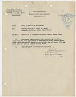 Order from the Navy Department appointing Richard H. Leigh commission for position as Commander-in-Chief of the United States Fleet