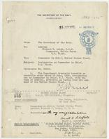 Order from the Navy Department appointing Richard H. Leigh Commander-in-Chief of the United States Fleet