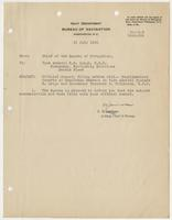 Complimentary remarks on Vice Admiral Richard H. Leigh and Commander Theodore S. Wilkinson, U.S.N.