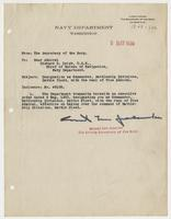Order from the Navy Department transmitting an executive order designating Richard H. Leigh as Commander