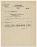 Order from the Navy Department assigning Richard H. Leigh temporary additional duty in Louisville