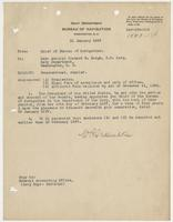 Order from the Navy Department enclosing Richard H. Leigh's commission
