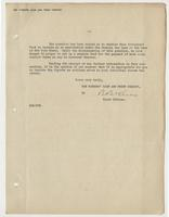 Letter to Admiral Leigh from a trust officer, Page 2