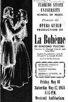 "Program for ""La Boheme"" (May 16-17, 1958)"