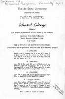 Program for Faculty Recital: Edward Kilenyi, Pianist (October 5, 1956)