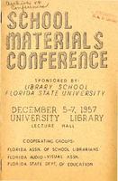 School Materials Conference program (December 5-7, 1957)