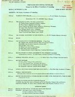 Seminar For Educational Counselors program (September 13, 1954)