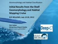 Initial Results from the Shelf Geomorphology and Habitat Mapping Cruise