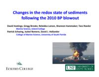 Changes in the Redox State of Sediments Following the 2010 BP Blowout