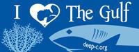 I Heart the Gulf Sticker