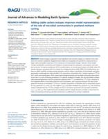 Adding Stable Carbon Isotopes Improves Model Representation Of The Role Of Microbial Communities In Peatland Methane Cycling