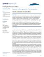Population And Energy Elasticity Of Tornado Casualties