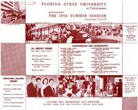 1954 Summer Session listing of conferences and workshops
