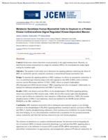 Melatonin sensitizes human myometrial cells to oxytocin in a protein kinase C alpha/extracellular-signal regulated kinase-dependent manner.