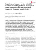 Experimental support for the foldability-function tradeoff hypothesis