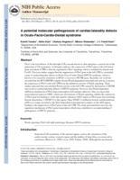 potential molecular pathogenesis of cardiac/laterality defects in Oculo-Facio-Cardio-Dental syndrome.