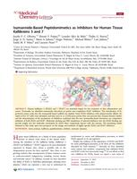 Isomannide-based peptidomimetics as inhibitors for human tissue kallikreins 5 and 7.