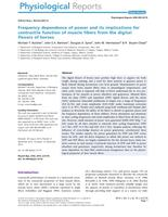 Frequency dependence of power and its implications for contractile function of muscle fibers from the digital flexors of horses.