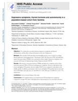 Depressive symptoms, thyroid hormone and autoimmunity in a population-based cohort from Sardinia.