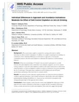 Individual Differences in Approach and Avoidance Inclinations Moderate the Effect of Self-Control Depletion on Ad-Lib Drinking.