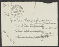 Letter from Alice 'Ulli' 'Lisl' Ullman and Inge Halberstamm to Giulia Kortischoner, 1939-04-16