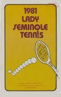 1981 Lady Seminole Tennis: Florida State University Intercollegiate Athletics for Women