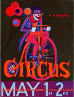Circus program and list of performers, 1959.