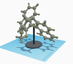 Template base for chemistry molecule