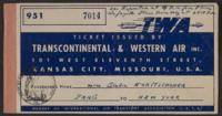 Airplane Ticket for Giulia Kortischoner, 1946-04-21