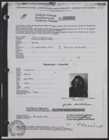 A Copy of Swiss Identification Papers for Giulia Kortischoner, 1946-03-28