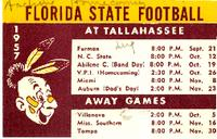 1957 Florida State Football Schedule