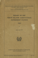 Report of the Virgin Islands Agricultural Experiment Station 1932