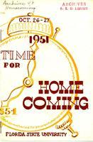 1951 Homecoming Program