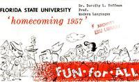 1957 Homecoming program